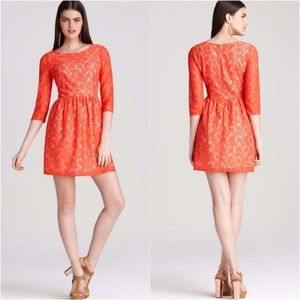 French Connection Orange Lace Lizzie Dress